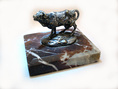ROSA BONHEUR Animal Bronze Sculpture of a Cow